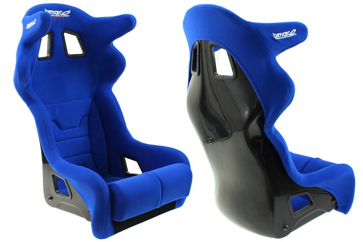 Fotel Sportowy Bimarco Grip Welur Blue HANS FIA - GRUBYGARAGE - Sklep Tuningowy